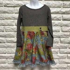 Matilda Jane Field Trip Francine ruffle trim dress